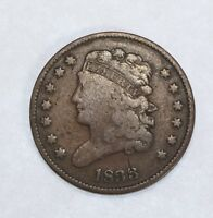 1833 CLASSIC HEAD HALF CENT  GOOD 1/2-CENT
