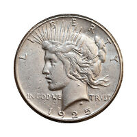 1925 S PEACE SILVER DOLLAR - AU / ALMOST UNCIRCULATED