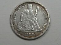 1883 VF SEATED LIBERTY DIME.  28