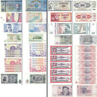 LOT OF 25 WORLD BANKNOTES OF WHICH 24 ARE UNCIRCULATED  NO TAX