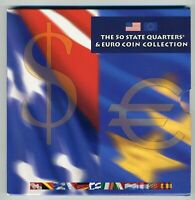 2002 THE 50 STATE QUARTERS & EURO COIN COLLECTION   19 BU CO
