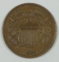 1865 TWO-CENT PIECE  FINE CIVIL WAR ERA, ODD DENOMINATION TYPE COIN