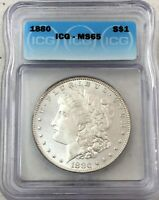1880 MORGAN SILVER DOLLAR ICG MINT STATE 65 - SEMI PROOF-LIKE LOOK