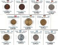 LOT OF 11 COINS OF GREECE & GERMANY 1876 2002  LOT 05