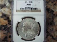 $600 VALUE  1901-O MORGAN SILVER DOLLAR, NGC MINT STATE 66