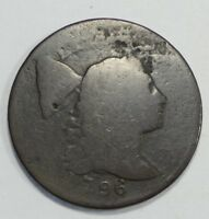 1796 LIBERTY CAP LARGE CENT AG 1-CENT  DESIRABLE DATE