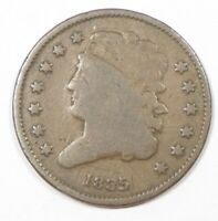 BARGAIN 1835 CLASSIC HEAD HALF CENT  GOOD 1/2-CENT