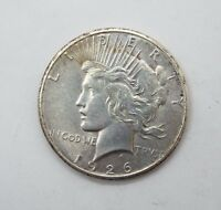 1926  PEACE DOLLAR ALMOST UNCIRCULATED SILVER DOLLAR