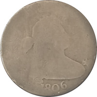 1806 DRAPED BUST HALF DOLLAR POINTED 6 STEMLESS.  FILLER