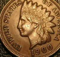 OLD US COINS 1900 INDIAN HEAD CENT PENNY HIGRADE FULL LIBERTY CHOICE GEM BEAUTY