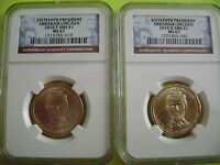 2010 ABRAHAM LINCOLN NGC P&D SMS MINT STATE 67 SATIN FINISH 2-COIN DOLLAR SET