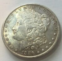 1886-P MORGAN DOLLAR UNCIRCULATED US MINT GEM SILVER COIN BU UNC 4000