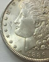 1886-P MORGAN DOLLAR UNCIRCULATED US MINT GEM SILVER COIN BU UNC 4001