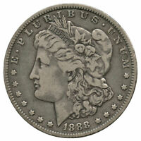 1888-O TOP 100 VAM-6 OVAL O, LAST 8 DOUBLED MORGAN DOLLAR CLEANED