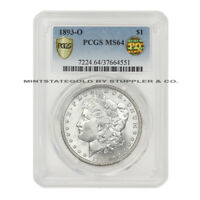 1893-O $1 MORGAN PCGS MINT STATE 64 PQ APPROVED GRADED NEW ORLEANS SILVER DOLLAR COIN