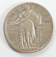 BARGAIN 1917-S TYPE-1 STANDING LIBERTY QUARTER EXTRA FINE SILVER 25-CENTS