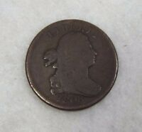 1808 DRAPED BUST HALF CENT  GOOD 1/2C WITH 180O ROTATED REVERSE DIE