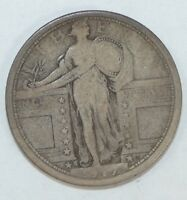 1917-S TYPE-1 STANDING LIBERTY QUARTER  GOOD SILVER 25-CENTS