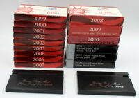 LOT OF 17 UNITED STATES MINT SILVER PROOF SETS 1992 2012 COI
