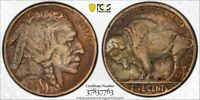 1915 S PCGS VF DETAIL CLEANED TONED BUFFALO NICKEL WITH A TR