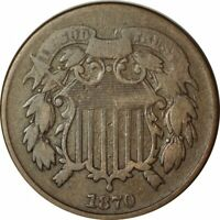 1870 2 CENT PIECE  -   CIRC -GREAT COLLECTOR COIN -AA964UHCT
