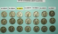3 COINS OF EACH  1925 1926 1926 S 1927 1928 1929 1930 STANDI