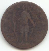 1787 1788 MASSACHUSETTS COLONIAL CENT VG DETAILS TRUE AUCTIO