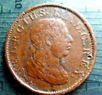 1813 ESSEQUIBO & DEMERARY  GUYANA  GEORGE III   ONE STIVER TOKEN