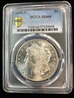 1885-S $1 PCGS MINT STATE 64