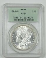 1903-O MORGAN DOLLAR CERTIFIED PCGS MINT STATE 64 SILVER DOLLAR  OLD GREEN HOLDER