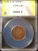 1794 ANACS GOOD 4 LIBERTY CAP HALF CENT 1/2C NO DATE OVER GRADED IN MY OPINION