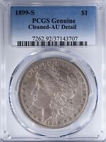 1899 S MORGAN DOLLAR PCGS AUDETAIL CLEANED, PCGS GENUINE