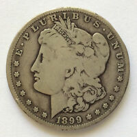 1899-S MORGAN SILVER DOLLAR U.S. COIN A4875