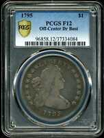 1795 $1 OFF-CENTER DRAPED BUST SILVER DOLLAR F12 PCGS 37334084