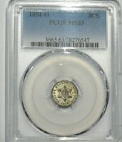 1851-O NEW ORLEANS 3 CENT SILVER PCGS MINT STATE 63