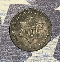 1852 THREE CENT SILVER. COLLECTOR COIN FOR COLLECTION OR SET. SHIPS FREE