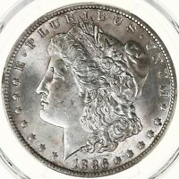 1886-O MORGAN $1 PCGS CERTIFIED MINT STATE 62 NEW ORLEANS MINT US SILVER DOLLAR COIN