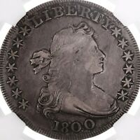 1800 DRAPED BUST $1 NGC CERTIFIED VF25  FINE GRADED EARLY US SILVER DOLLAR