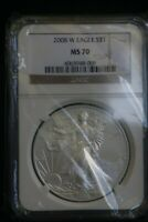 2008-W $1 BURNISHED SILVER EAGLE NGC MS70