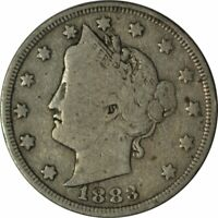 1883 LIBERTY NICKEL WITH CENTS - BETTER DATE CIRC COLLECTOR COIN -EE320SUT2
