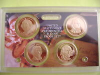 2007 US MINT PRESIDENTIAL 4-COIN DOLLAR PROOF SET WITH BOX & COA.