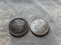 1882 &1883 MORGAN SILVER DOLLARS TONING ON BOTH COINS