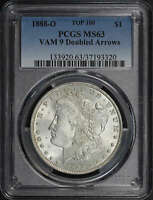 1888-O TOP-100 VAM-9 DOUBLED ARROWS PCGS MINT STATE 63 -182838