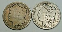 2- NEW ORLEANS MORGAN DOLLARS: 1886-O, 1901-O. 19