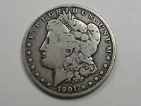 BETTER-DATE 1901-O MORGAN DOLLAR.  37