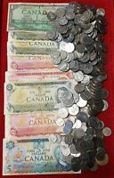 $46 FV CAD CANADA COIN & CURRENCY LOT NO PENNIES 1 CENT COIN