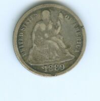 1889-P SEATED LIBERTY DIME--FULL LIBERTY
