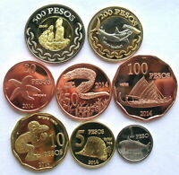 EASTER ISLAND 2014 SEALIFE SET OF 8 COINS UNC