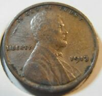 1913 P EARLY LINCOLN CENT, BETTER GRADE, LOW MINTAGE 13PFN1