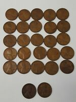74 PENNIES FROM 1918, 1919, 1929 LINCOLN WHEAT CENTS OLD COLLECTION CIRCULATED